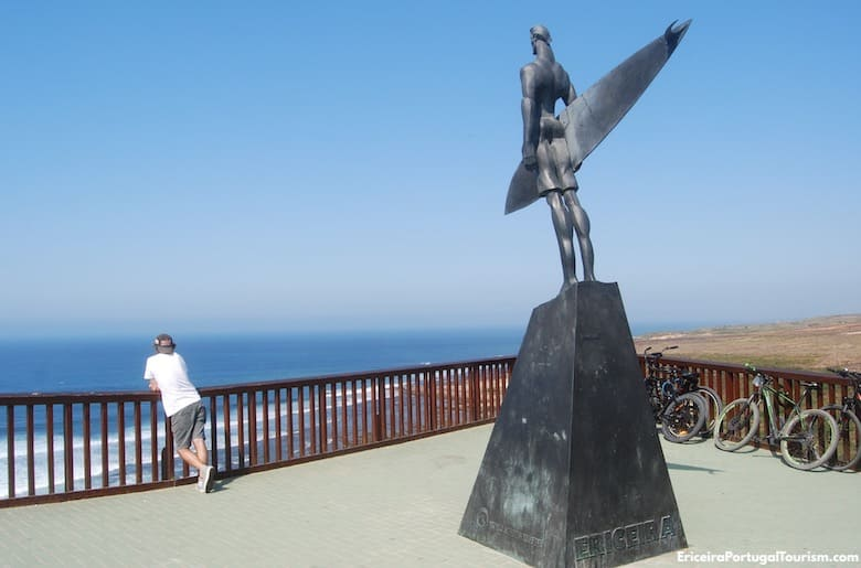 Monument to surfers in Ericeira
